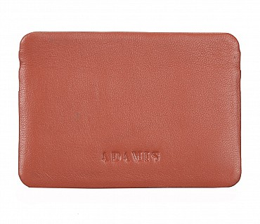 VW8--Ultra Slim card Case in Genuine Leather - Tan