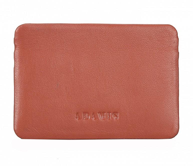VW8--Ultra Slim card Case in Genuine Leather - Tan