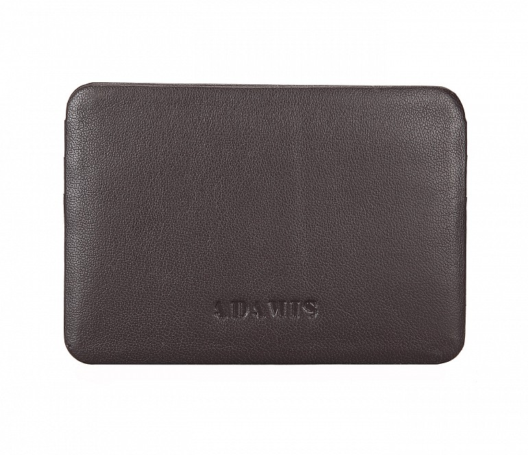 VW8--Ultra Slim card Case in Genuine Leather - Brown