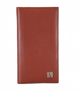 W10-Novio-Travel document wallet in soft Genuine Leather - Tan