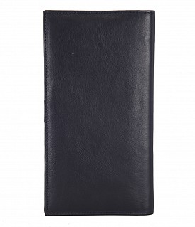 W10-Novio-Travel document wallet in soft Genuine Leather - Blue