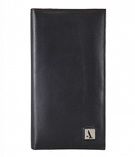 W10-Novio-Travel document wallet in soft Genuine Leather - Black