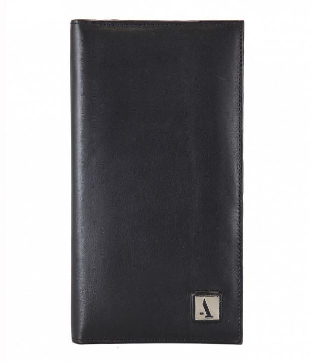 W10-Novio-Travel document wallet in soft Genuine Leather - Black