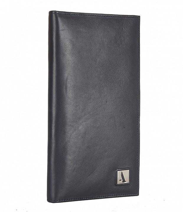 W10-Novio-Travel document wallet in soft Genuine Leather - Blue