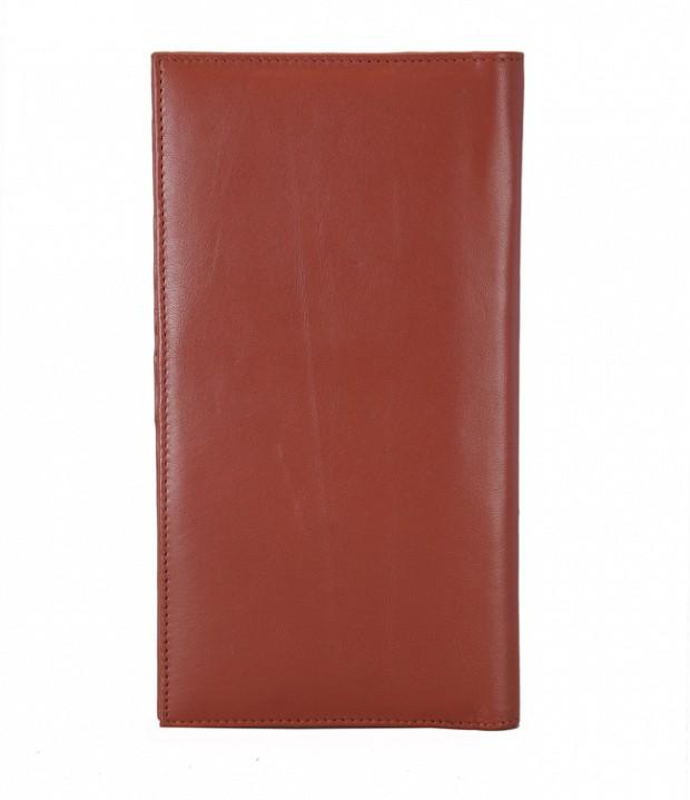 W10-Novio-Travel document wallet in soft Genuine Leather - Tan