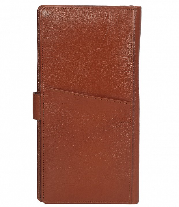 W247-Cynthia-Unisex wallet for travel documents in Genuine Leather - Tan