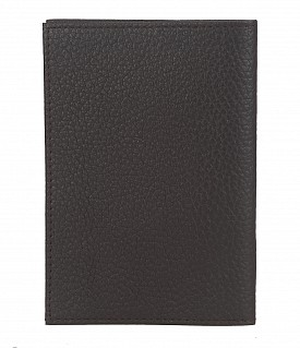 W251--Passport cover in Genuine Leather - Black