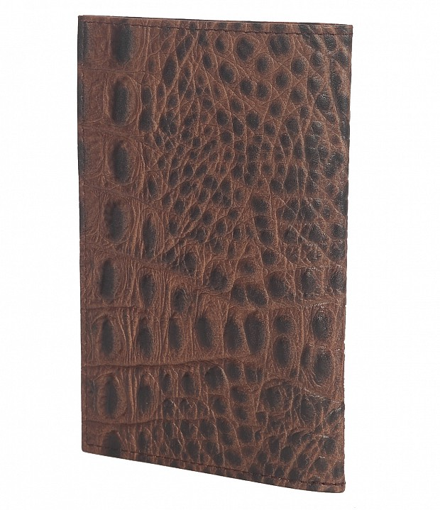 W251--Passport cover in Genuine Leather - Brown.