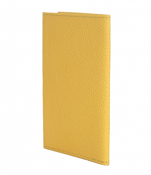 W251--Passport cover in Genuine Leather - Yellow
