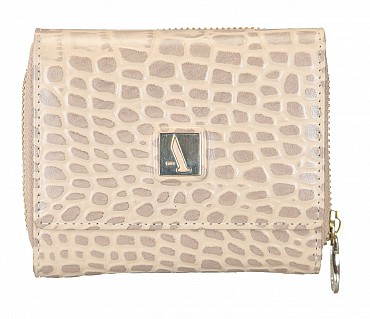 W267-Evelyn-Women's trifold wallet in Genuine Leather - Tope