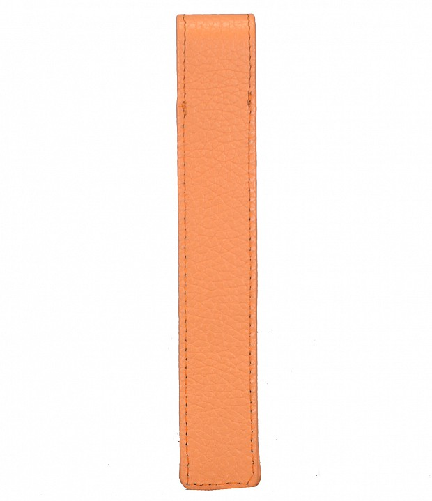 W268--Pen case to carry single pen in Genuine Leather - Peach