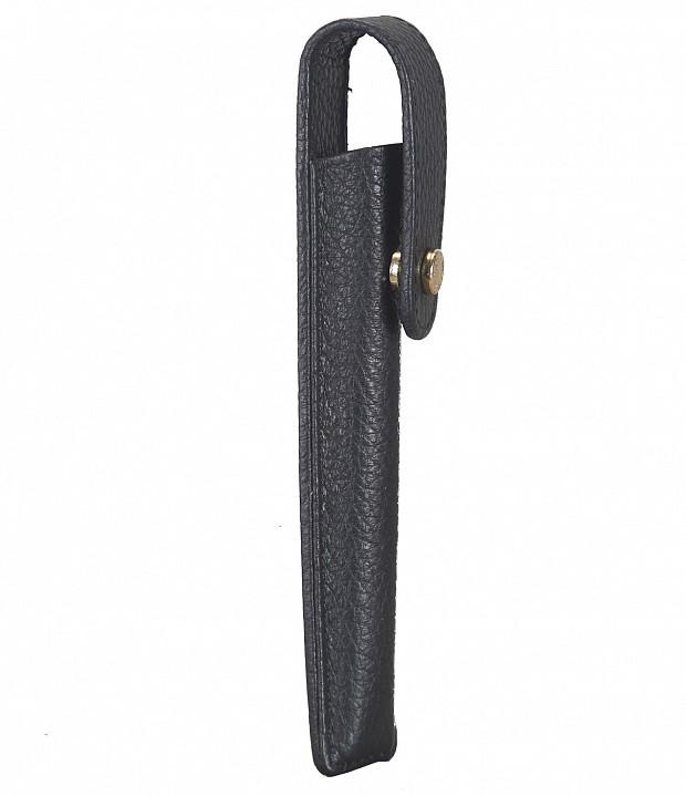 W268--Pen case to carry single pen in Genuine Leather - Black