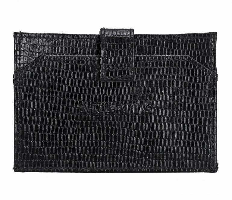 W272--Credit Card cum business card holder in Genuine leather - Black/Wine