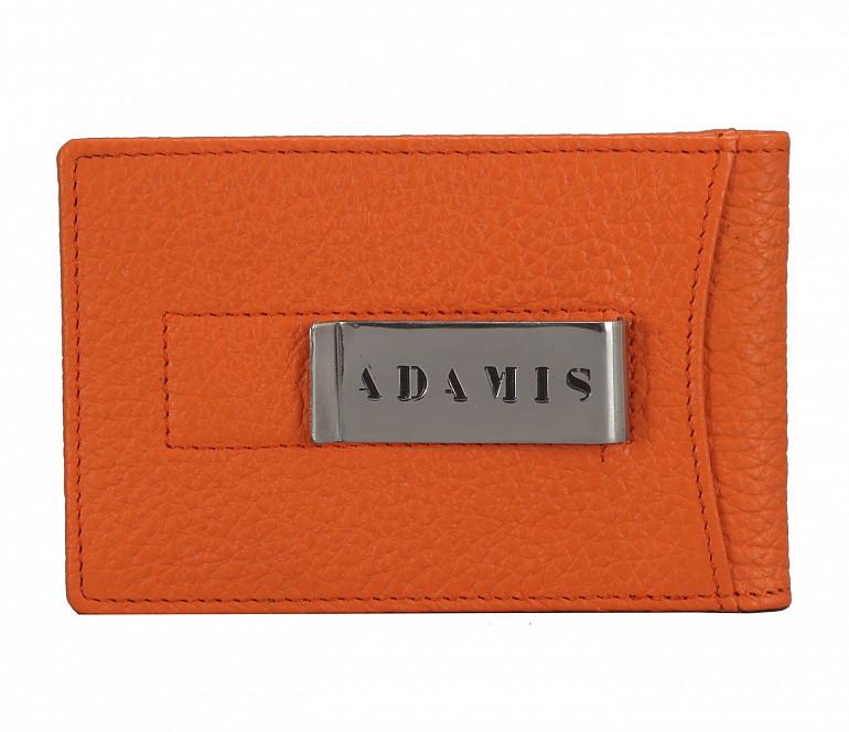 W275--Bi-fold wallet with card holder & money clip in Genuine leather - Orange