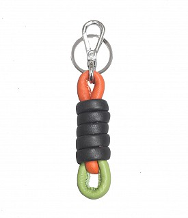 W276--Key chain holder in Genuine Leather - Black