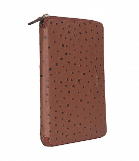 W281--Ipad mini cover with magnetic tray in Genuine Leather - Tan