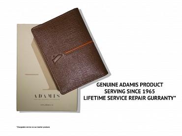 W302--Credit card cum business card case in Genuine Leather - Brown