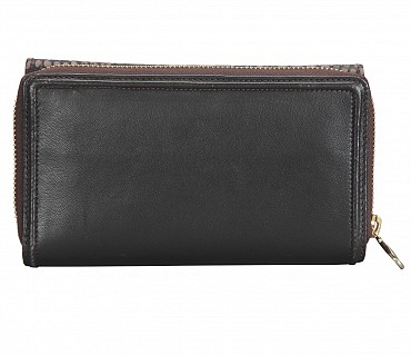 W315-Carolina-Women's bifold wallet in Genuine Leather  - Brown