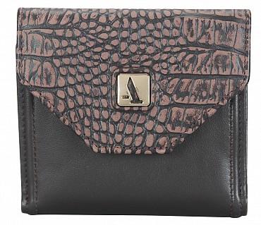 W316-Carolina-Women's bifold wallet in Genuine Leather - Brown