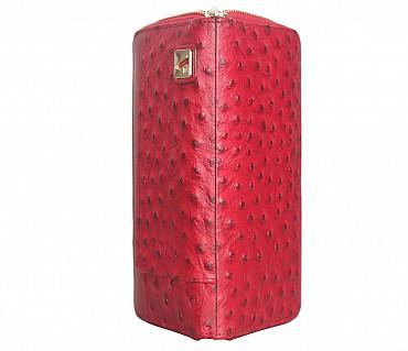 W317-Beyonce-Women's wallet cum clutch in Genuine Leather - Red