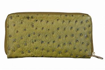W317-Beyonce-Women's wallet cum clutch in Genuine Leather - Green