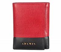 Bradley Leather Wallet(Red/Black)W326
