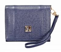 Fiorella Leather Wallet(Blue)W330