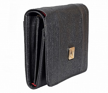 W330-Fiorella-Women's wallet in Genuine Leather - Black