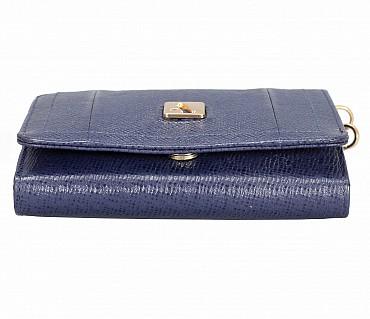 W330-Fiorella-Women's wallet in Genuine Leather - Blue