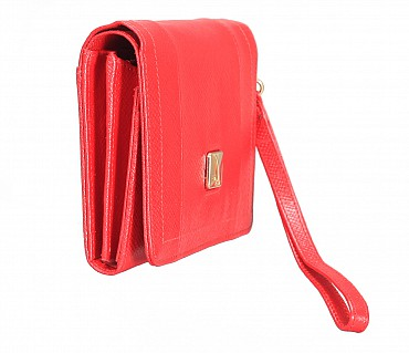 W330-Fiorella-Women's wallet in Genuine Leather - Red