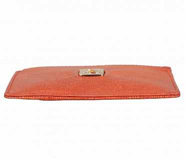 W331-Credit card case with photo Id in genuine leather- - Tan