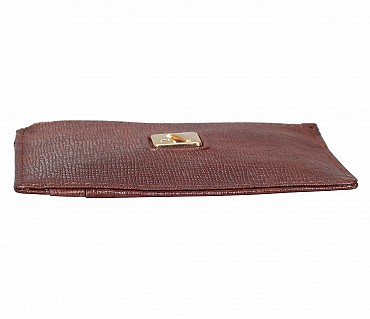 W331-Credit card case with photo Id in genuine leather- - Brown.