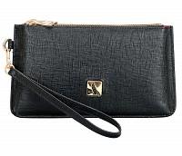 Adriana Leather Wallet(Black)W332