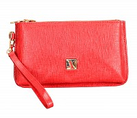 Adriana Leather Wallet(Red)W332