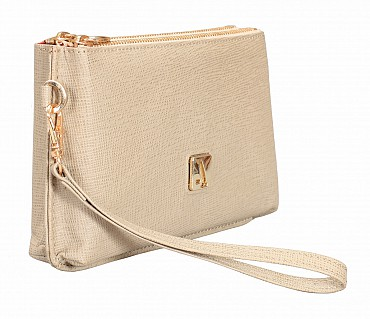 W332-Adriana-Women's wallet cum clutch in Genuine Leather - Tope