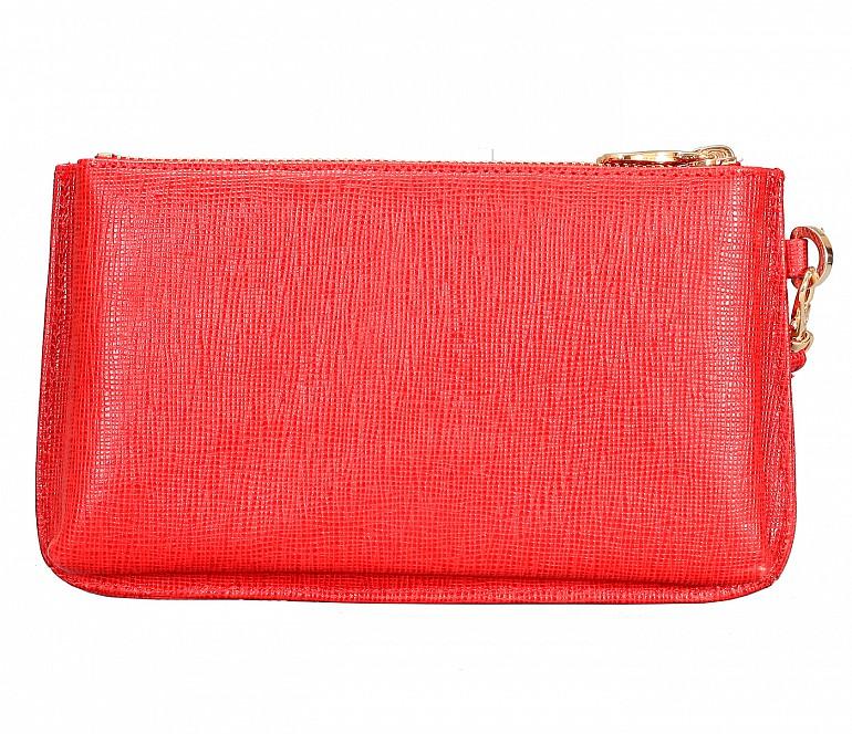 W332-Adriana-Women's wallet cum clutch in Genuine Leather - Red