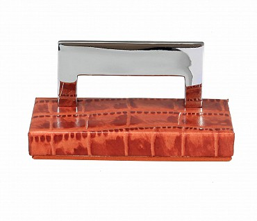 W333-Credit card holder in genuine leather- - Tan