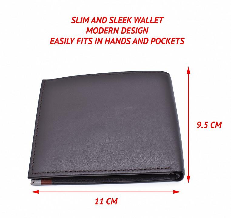W335-Alex-Men's bifold wallet in genuine leather - Brown / Tan