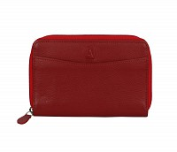 Freida Leather Wallet(Red)W35