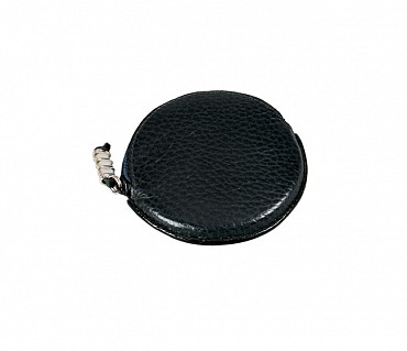 W45--Multipurpose purse to hold coin in Genuine Leather - Black