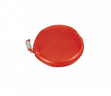 W45--Multipurpose purse to hold coin in Genuine Leather - Red