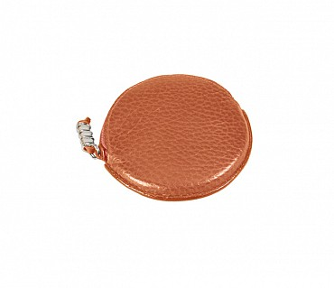 W45--Multipurpose purse to hold coin in Genuine Leather - Tan