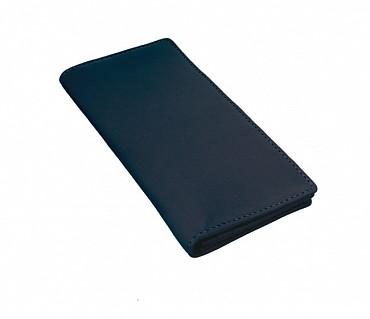 W6-Olive-Women's wallet cum clutch in Genuine Leather - Blue