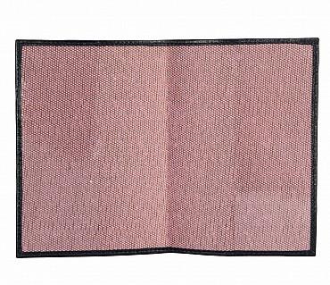 W73--Passport cover in Genuine Leather - Black