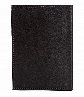 W73--Passport cover in Genuine Leather - Brown