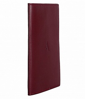 W73--Passport cover in Genuine Leather - Wine