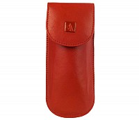 Leather Spectacle Case(Red)W74