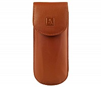 Leather Spectacle Case(Tan)W74
