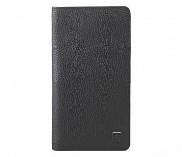 W85-Rafel -Travel document wallet in Genuine Leather - Black