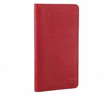 W85-Rafel -Travel document wallet in Genuine Leather - Red